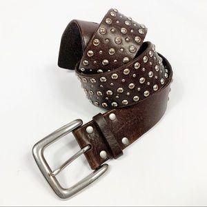 Lauren Ralph Lauren Leather Studded Unisex Belt L